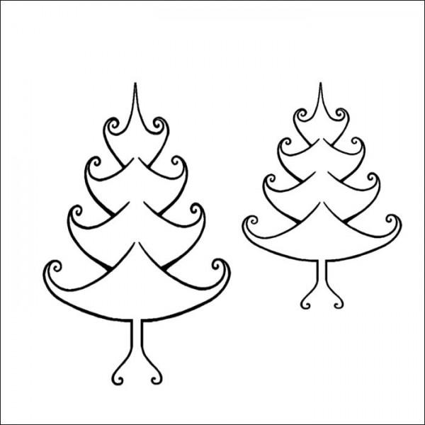 Zentangle Christmas Tree Stamps